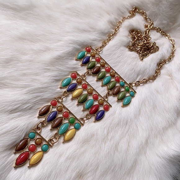 Deja Vu Boutique Boho Bib Tiered Necklace